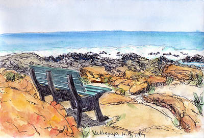Drawing - Yallingup by Anne Huth