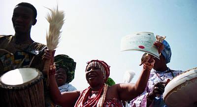 Photograph - Yaloja Celebrates by Muyiwa OSIFUYE