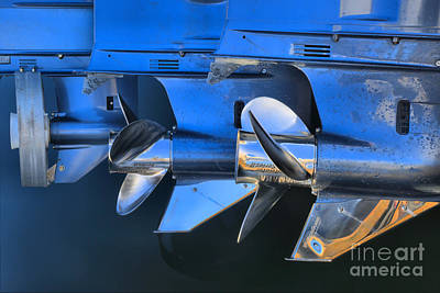 Photograph - Yamaha Boat Propellers by Adam Jewell