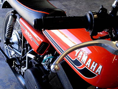Photograph - Yamaha Rd350 I by James Granberry