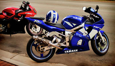 Photograph - Yamaha Yzf-r6 Motorcycle by Joann Copeland-Paul