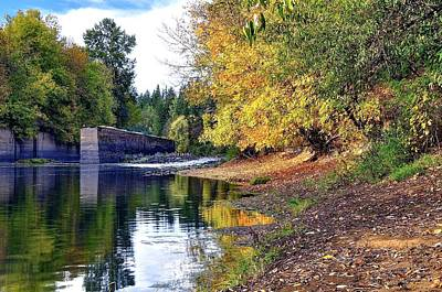 Photograph - Yamhill River Locks Hdr 5742 by Jerry Sodorff