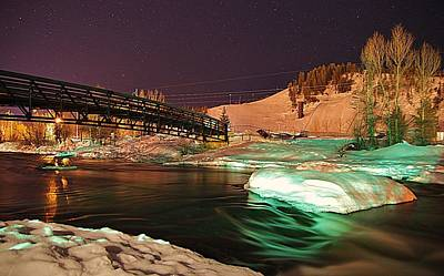 Photograph - Yampa Night Flow by Matt Helm