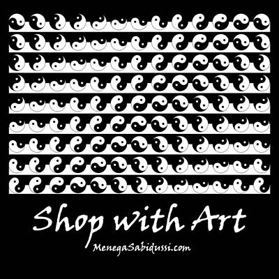 Photograph - Tote - Yan Yang Pattern Black And White - Shop With Art by Menega Sabidussi