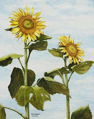 Yana's Sunflowers Art Print by Mary Ann King