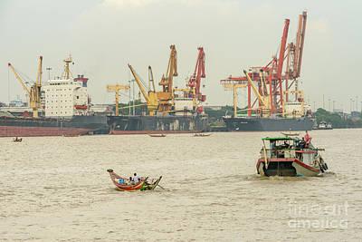Photograph - Yangon Waterfront 2 by Werner Padarin