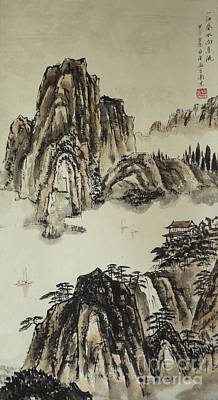 Yangze River In Autumn Print by Birgit Moldenhauer