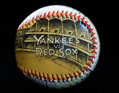 Yankee Baseball Art Print