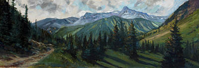 Art Print featuring the painting Yankee Boy Basin by Billie Colson