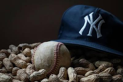 Yankee Cap Baseball And Peanuts Art Print