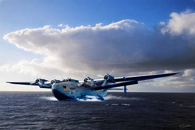 Airways Digital Art - Yankee Clipper by Peter Chilelli
