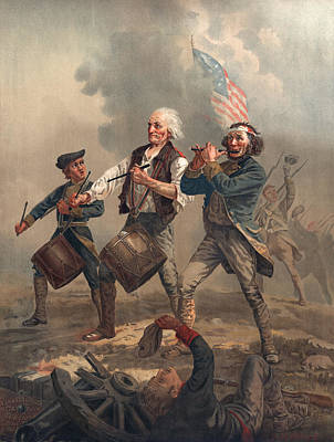 Star Spangled Banner Painting - Yankee Doodle Or The Spirit Of 76 by Archibald Willard