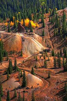 Hole In The Ground Photograph - Tailings by Mike Flynn