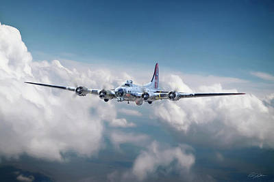 B-17 Wall Art - Digital Art - Yankee Lady B-17 by Peter Chilelli