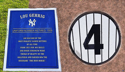 Gehrig Painting - Yankee Legends Number 4 by David Lee Thompson