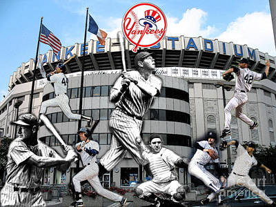 Babe Ruth Digital Art - Yankee Magic by Christopher Finnicum