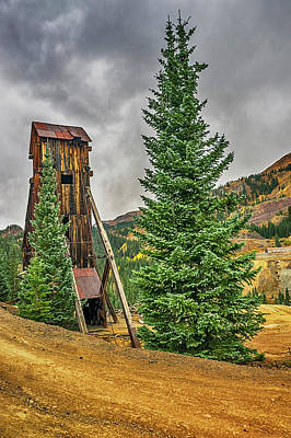 Photograph - Yankee Mine Ouray Co Dsc07938-hdr by Greg Kluempers