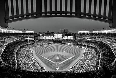 Photograph - Yankee Stadium 2 - B And W by Allen Beatty