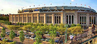 Athletes Royalty-Free and Rights-Managed Images - Yankee Stadium Exterior Panorama by Nishanth Gopinathan