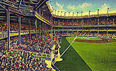Yankee Stadium Painting - Yankee Stadium From Right Field 1937 by Dwight Goss