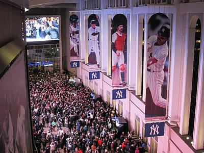 Photograph - Yankee Stadium Great Hall 2009 World Series Color  by Terry DeLuco