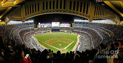 Derek Jeter Photograph - Yankee Stadium Interior Panorama With Facade by Nishanth Gopinathan