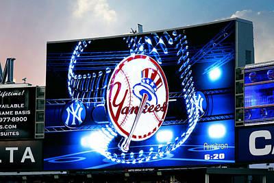 Photograph - Yankee Stadium Jumbotron by Aurelio Zucco