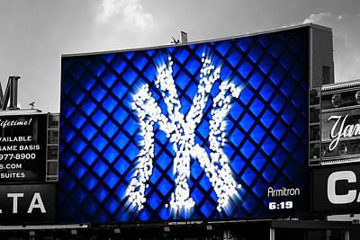 Photograph - Yankee Stadium Jumbotron II Selective Color by Aurelio Zucco