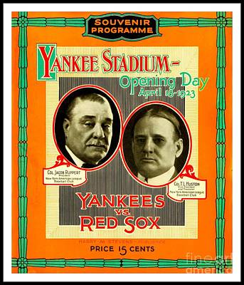 Painting - Yankee Stadium Opening Day Program by Peter Gumaer Ogden Collection