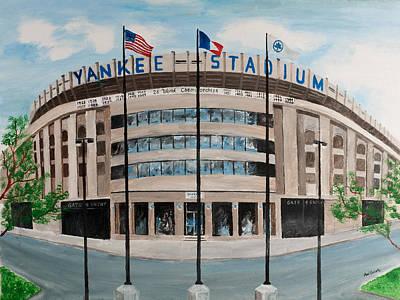 Painting - Yankee Stadium by Paul Cubeta