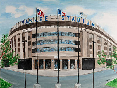 Yankee Stadium Print by Paul Cubeta