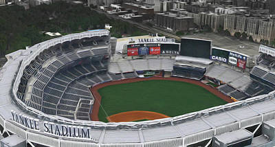New York Mets Digital Art - Yankee Stadium by Scott Hanlon