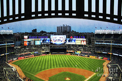 Derek Jeter Photograph - Yankee Stadium With Facade by Nishanth Gopinathan