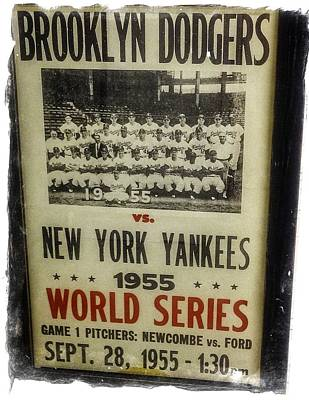 Yankees And Dodgers World Series 1955 Art Print by Image Takers Photography LLC - Laura Morgan