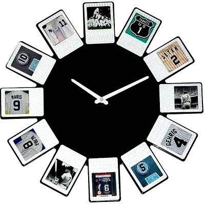 yankees Clock Print by Paul Van Scott