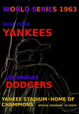 Yankees Dodgers World Series Poster Original by Paul Sutcliffe