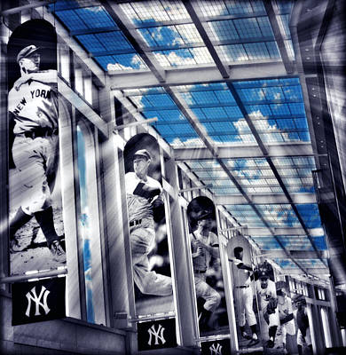 Yankee Stadium Digital Art - Yankee Immortals Iv by Aurelio Zucco
