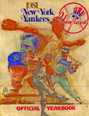 Yankees Drawing - Yankees Spring Training Yearbook Cover by Harold Shull