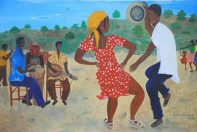 Haitian Painting - Yanvalou by Nicole Jean-Louis
