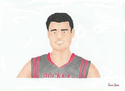 Drawing - Yao Ming by Toni Jaso