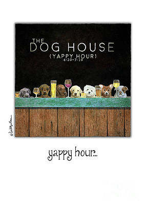 Note Card Painting - Yappy Hour... by Will Bullas