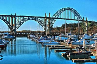Photograph - Yaquina Bay And Bridge by Thom Zehrfeld