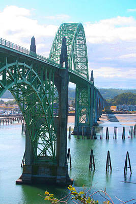 Yaquina Bay Bridge Br-9002 Art Print by Mary Gaines