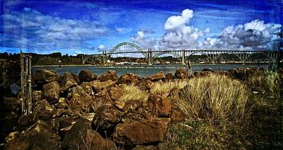 Photograph - Yaquina Bay Bridge From The South Jetty by Thom Zehrfeld