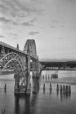 Photograph - Yaquina Bay Bridge by HW Kateley