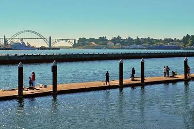 Photograph - Yaquina Bay Bridge In Newport by Kirsten Giving