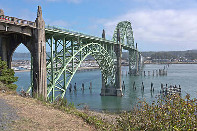Yaquina Bay Bridge In Newport Oregon. Original by Gino Rigucci