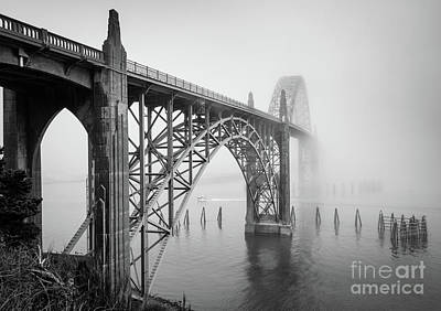 Gothic Bridge Photograph - Yaquina Bay Bridge by Inge Johnsson