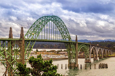 Art Print featuring the photograph Yaquina Bay Bridge by James Eddy