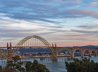 Yaquina Bay Bridge Photograph - Yaquina Bay Bridge by Loree Johnson